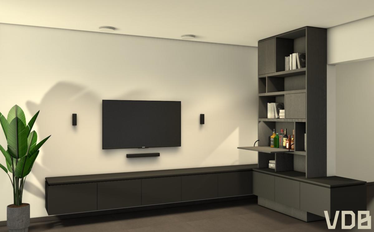 zwevend tv-meubel op maat